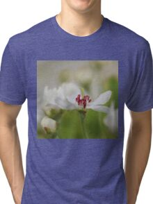 Macro Korean Sun Pear Blossom 2 Tri-blend T-Shirt