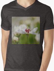 Macro Korean Sun Pear Blossom 2 Mens V-Neck T-Shirt