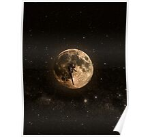 Surreal Moon Climber Poster