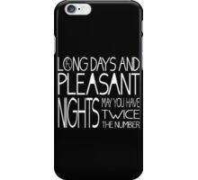 Mid-World Greeting iPhone Case/Skin