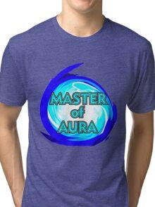 Master of Aura Lucario SSB4  Tri-blend T-Shirt