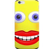 Smiley Female With Big Smiling Mouth iPhone Case/Skin