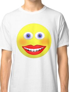 Smiley Female With Big Smiling Mouth Classic T-Shirt