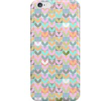 Pastel sweetheart pattern. Hearts. Love. Pink. iPhone Case/Skin