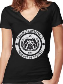 Grayskull Brewing Company Women's Fitted V-Neck T-Shirt