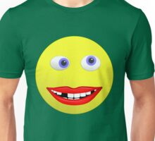 Smiley Ugly Cross Eyed Missing Teeth Unisex T-Shirt