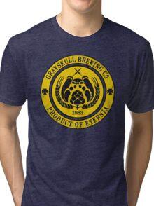 Grayskull Brewing Company - Yellow Tri-blend T-Shirt