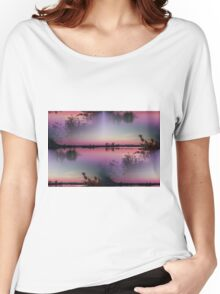 landscape lake at sunset Women's Relaxed Fit T-Shirt