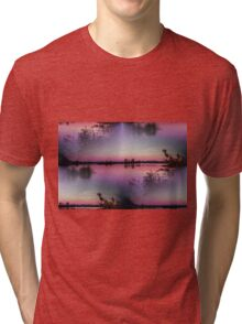 landscape lake at sunset Tri-blend T-Shirt