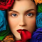 Rainbow Roses by Kitty Bitty