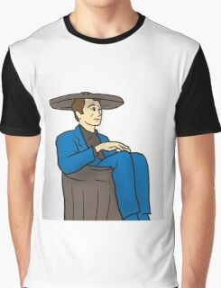 21st Century Hobo in suit bin waste-paper basket Graphic T-Shirt
