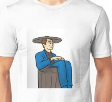 21st Century Hobo in suit bin waste-paper basket Unisex T-Shirt