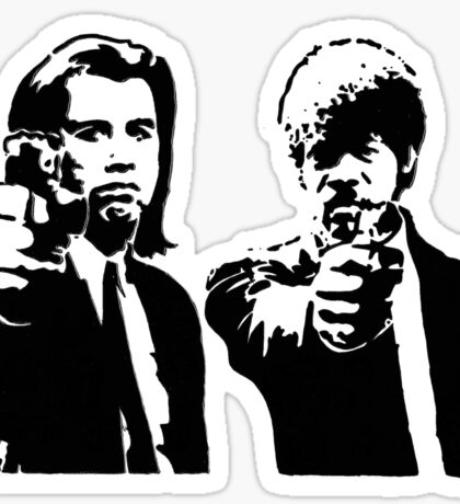 Pulp Fiction - Vincent and Jules Sticker