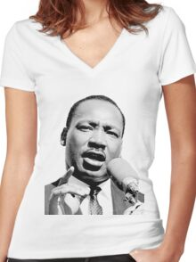 Martin Luther King Jr. Women's Fitted V-Neck T-Shirt
