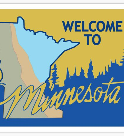 Welcome to Minnesota, Road Sign, USA  Sticker