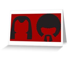 Pulp Fiction - Vincent and Jules hair layout Greeting Card
