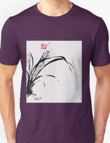 Japanese Orchid Design painted by Lee Henrik Unisex T-Shirt