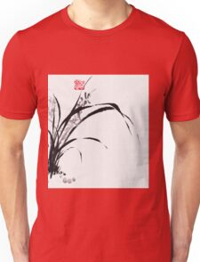 Japanese Orchid Design painted by Lee Henrik Unisex T-Shirt