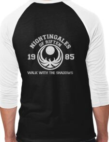 Nightingales of riften - black Men's Baseball ¾ T-Shirt