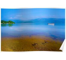 Tranquil Lake Painting of Loch Lomond Poster