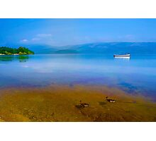 Tranquil Lake Painting of Loch Lomond Photographic Print