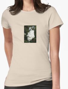 Deutzia White Spring Blossoms  Womens Fitted T-Shirt