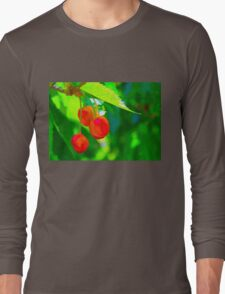 Red Cherries Painting Long Sleeve T-Shirt