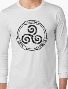 Alpha Beta Omega (Black) - Teen Wolf Long Sleeve T-Shirt