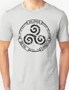 Alpha Beta Omega (Black) - Teen Wolf Unisex T-Shirt