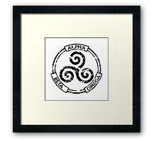 Alpha Beta Omega (Black) - Teen Wolf Framed Print