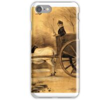Vincent Van Gogh Drawings, Donkey and Cart iPhone Case/Skin
