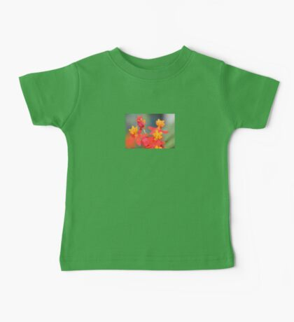 Echeveria Succulent Red and Yellow Flower Baby Tee