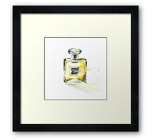 Hand painting watercolor perfume Framed Print