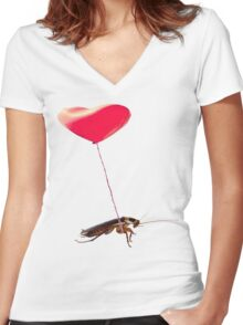 The lonely Valentine Women's Fitted V-Neck T-Shirt