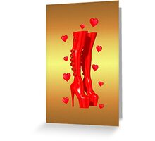 Love in Boots Greeting Card