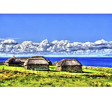 Black Houses Photographic Print