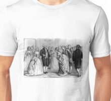 A presidential reception in 1789 - by General and Mrs. Washington - Currier & Ives - 1876 Unisex T-Shirt