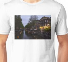 Springtime Amsterdam - Canalside Restaurant With a Terrace in Jordaan Unisex T-Shirt