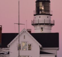 Sunset at Cape Elizabeth Light Sticker