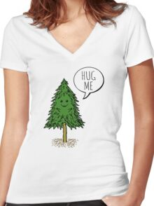 Treehugger Women's Fitted V-Neck T-Shirt