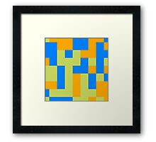 Tetris shapes Framed Print
