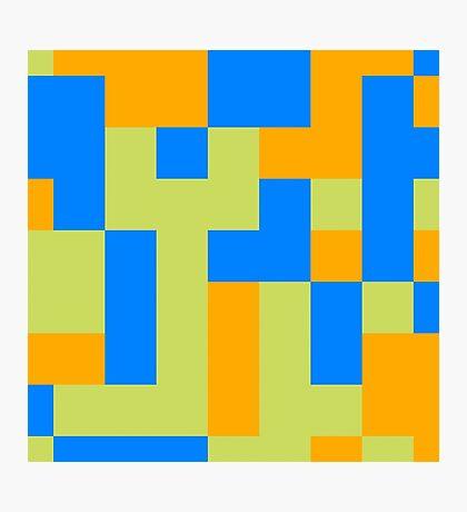 Tetris shapes Photographic Print