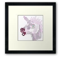 Beware the unicorn! Framed Print