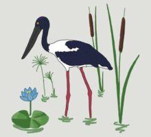 JABIRU - Black-Necked Stork by Rob Price
