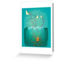 Into the deep ocean Greeting Card