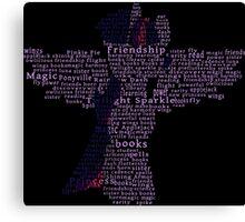 My Little Pony - Twilight Sparkle Typography Canvas Print