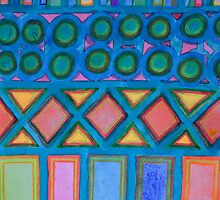 Filled blue Grid by Heidi Capitaine