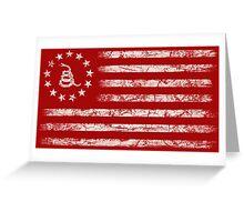 Dont Tread On Me - Original Rebel Flag (White) Greeting Card
