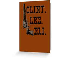 Clint Lee Eli Greeting Card