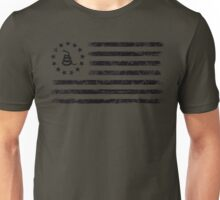 Dont Tread On Me - Original Rebel Flag (Black) Unisex T-Shirt